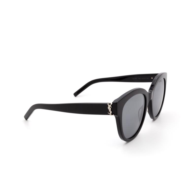 Saint Laurent® Round Sunglasses: SL M29 color Black 002.