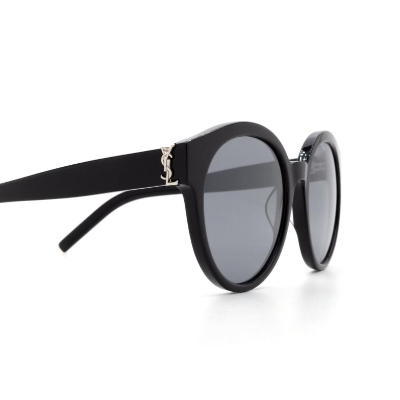 Saint Laurent® Round Sunglasses: SL M31 color Black 002.