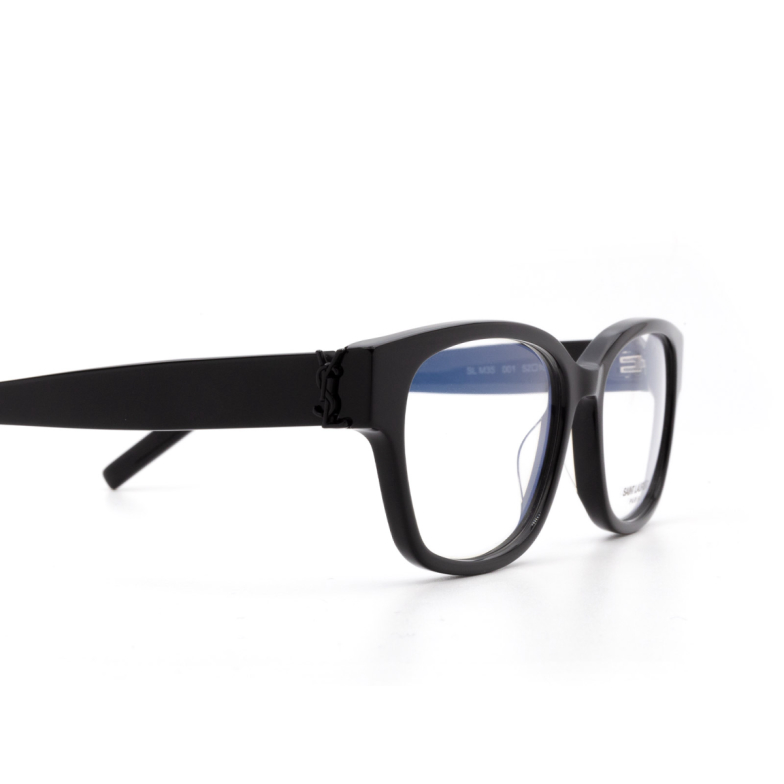 Saint Laurent® Square Eyeglasses: SL M35 color Black 001.