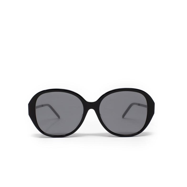 Saint Laurent® Round Sunglasses: SL M48S_B/K color Black 003.