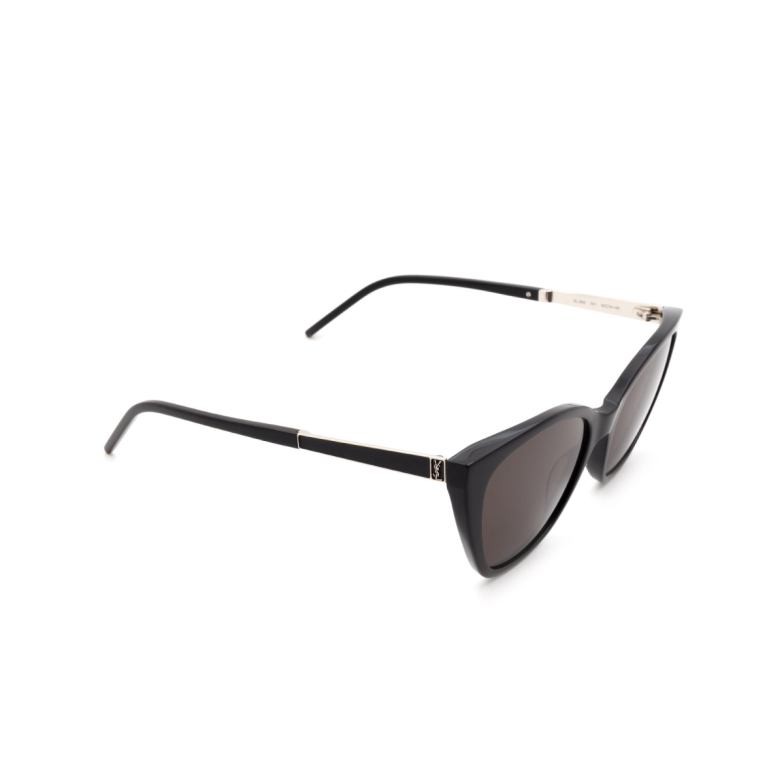 Saint Laurent® Cat-eye Sunglasses: SL M69 color Black 001.