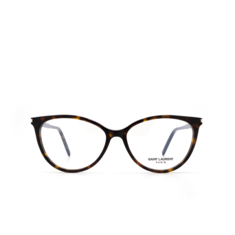 Saint Laurent® Cat-eye Eyeglasses: SL 261 color Havana 002.