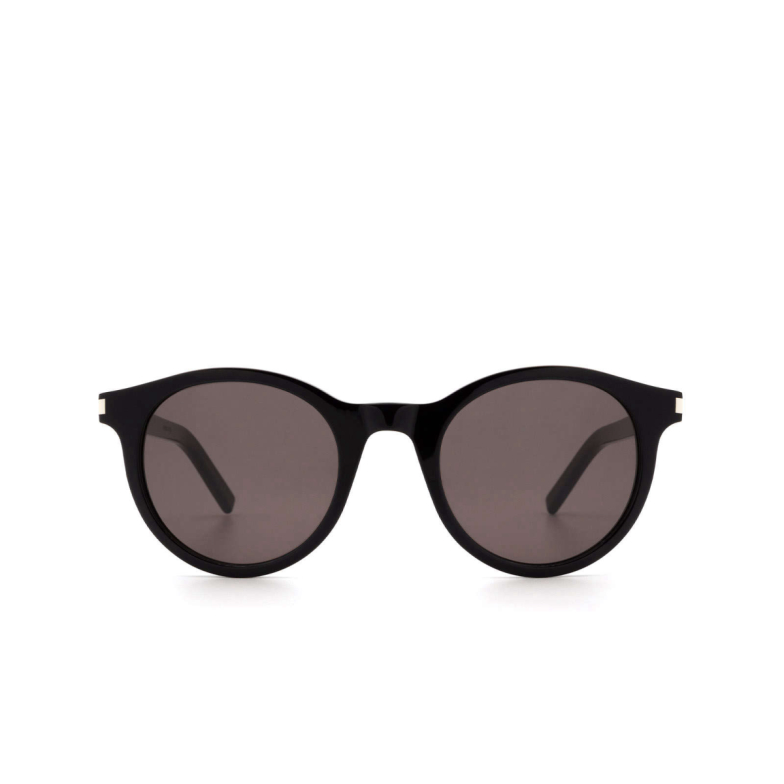 Saint Laurent® Round Sunglasses: SL 342 color Black 001.