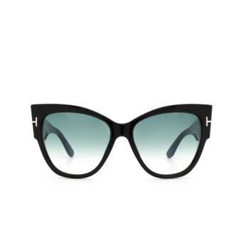 Tom Ford® Butterfly Sunglasses: Anushka FT0371 color Shiny Black 01B.