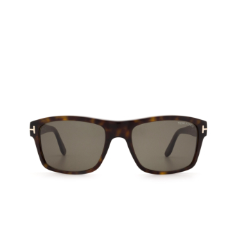 Tom Ford® Square Sunglasses: August FT0678 color Dark Havana 52N.