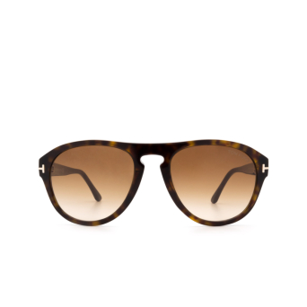 Tom Ford® Aviator Sunglasses: Austin-02 FT0677 color Dark Havana 52F.