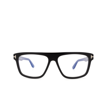 Tom Ford® Square Eyeglasses: Cecilio-02 FT0628 color Shiny Black 001.
