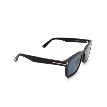 Tom Ford® Square Sunglasses: Dax FT0751 color Shiny Black 01V.