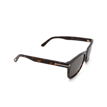 Tom Ford® Square Sunglasses: Eric-02 FT0595 color Dark Havana 52N.