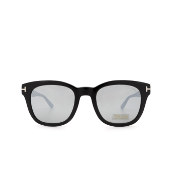 Tom Ford® Square Sunglasses: Eugenio FT0676 color Shiny Black 01C.