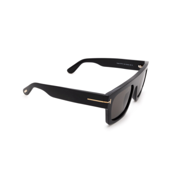 Tom Ford® Square Sunglasses: Fausto FT0711 color Shiny Black 01A.