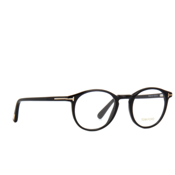 Tom Ford® Round Eyeglasses: FT5294 color Shiny Black 001.