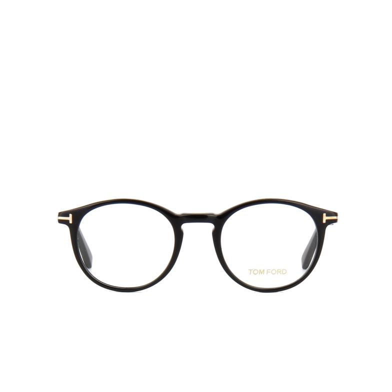 Tom Ford® Round Eyeglasses: FT5294 color Shiny Black 001.