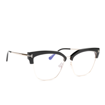 Tom Ford® Butterfly Eyeglasses: FT5547-B color Shiny Black 001.