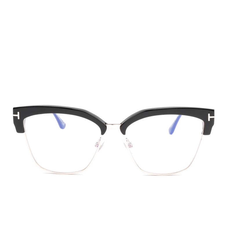 Tom Ford® Butterfly Eyeglasses: FT5547-B color Shiny Black 001.