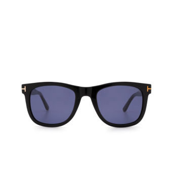 Tom Ford® Square Sunglasses: Leo FT0336 color Shiny Black 01V.