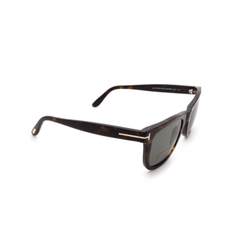 Tom Ford® Square Sunglasses: Leo FT0336 color Havana 56R.