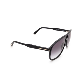Tom Ford® Aviator Sunglasses: Raoul FT0753 color Shiny Black 01B.