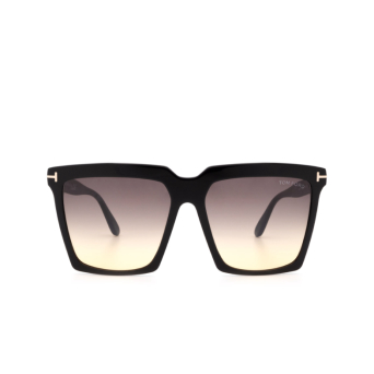 Tom Ford® Square Sunglasses: Sabrina-02 FT0764 color Shiny Black 01B.