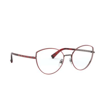Valentino® Cat-eye Eyeglasses: VA1018 color Gunmetal / Red 3012.