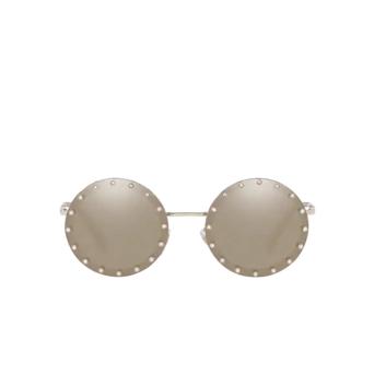 Valentino® Round Sunglasses: VA2010B color Silver Gold Plated 3057T7.