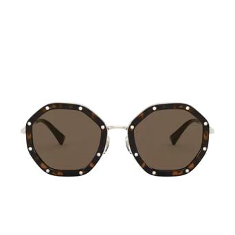 Valentino® Irregular Sunglasses: VA2042 color Pale Gold / Havana 300373.
