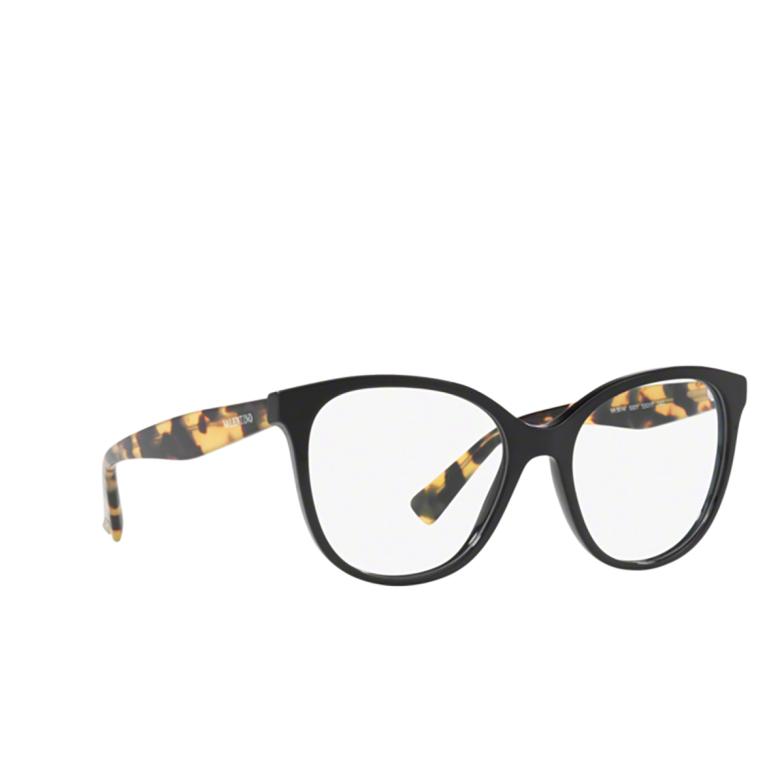 Valentino® Square Eyeglasses: VA3014 color Black 5001.
