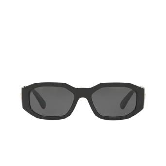 Versace® Irregular Sunglasses: VE4361 color Black GB1/87.