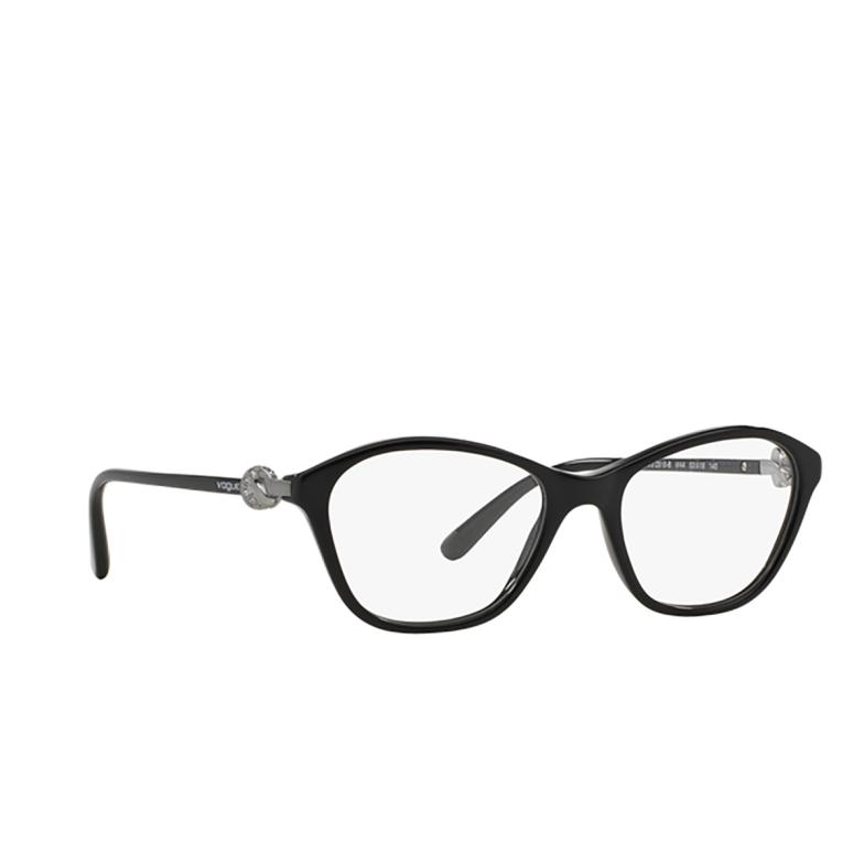 Vogue® Rectangle Eyeglasses: VO2910B color Black W44.