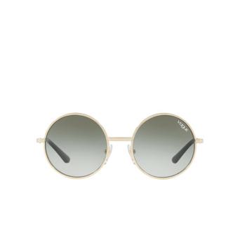 Vogue® Round Sunglasses: VO4085S color Pale Gold 848/8E.