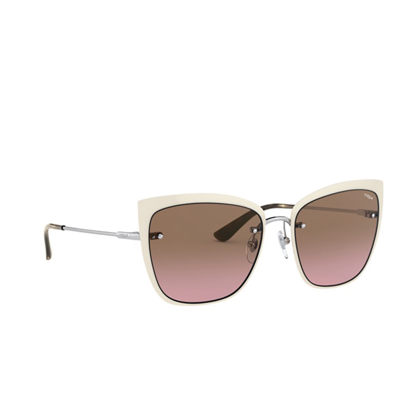 Vogue® Butterfly Sunglasses: VO4158S color Top Beige / Silver 323/14.