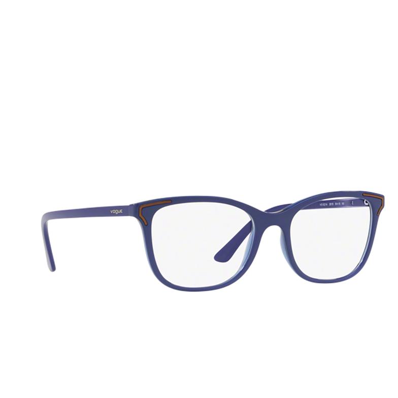 Vogue® Square Eyeglasses: VO5214 color Top Bluette / Bluette Transparent 2619.