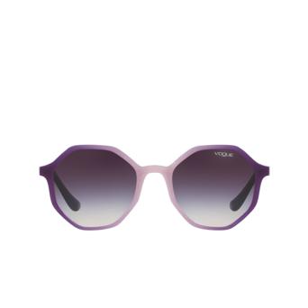 Vogue® Irregular Sunglasses: VO5222S color Opal Violet Glitt Grad Violet 264036.