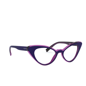 Vogue® Cat-eye Eyeglasses: VO5317 color Top Blue / Transparent Fuxia 2809.