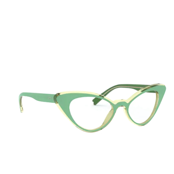 Vogue® Cat-eye Eyeglasses: VO5317 color Top Green / Transparent Beige 2810.