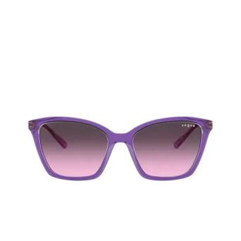 Vogue® Butterfly Sunglasses: VO5333S color Top Violet / Transparent Grey 284890.
