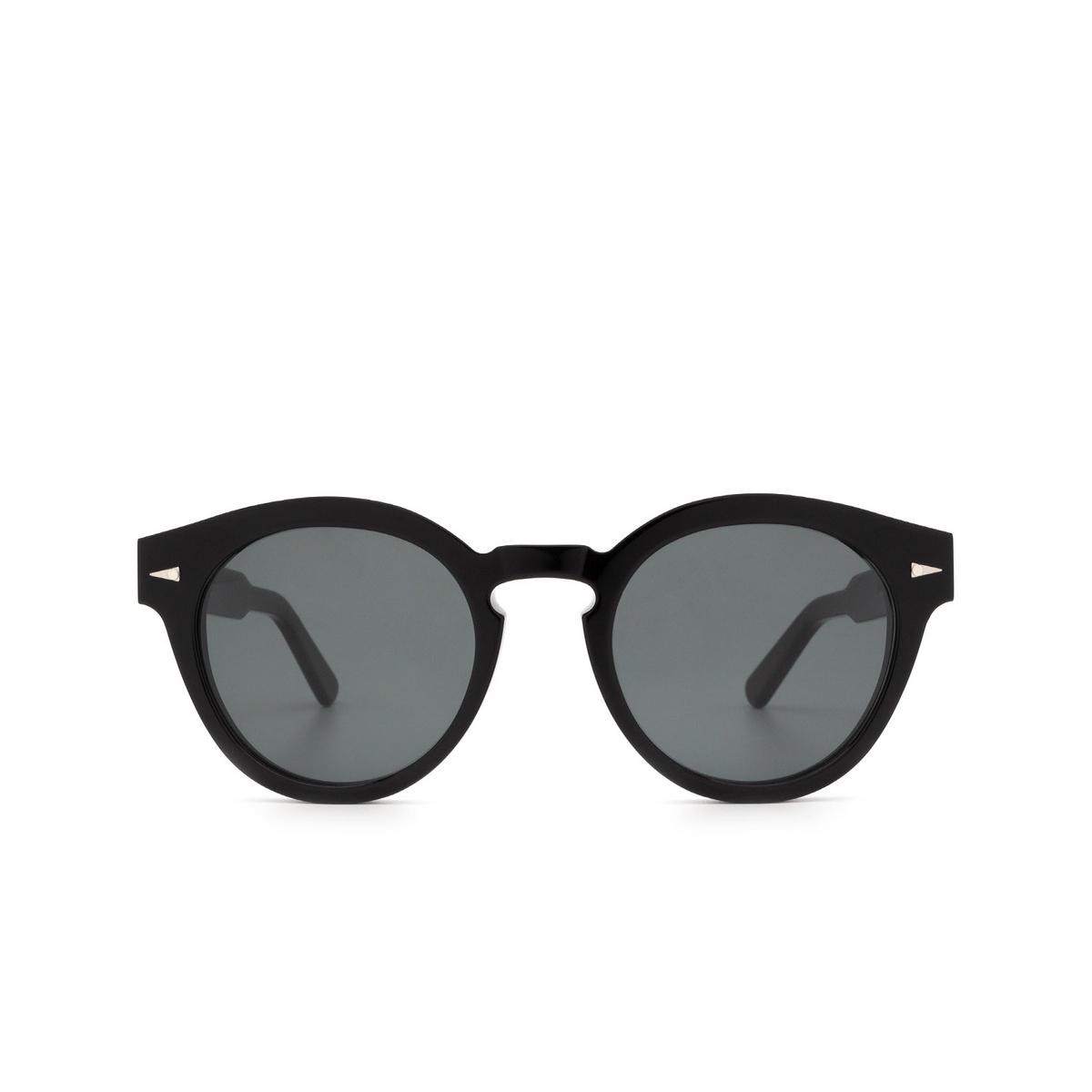 Ahlem® Round Sunglasses: Abbesses color Black.