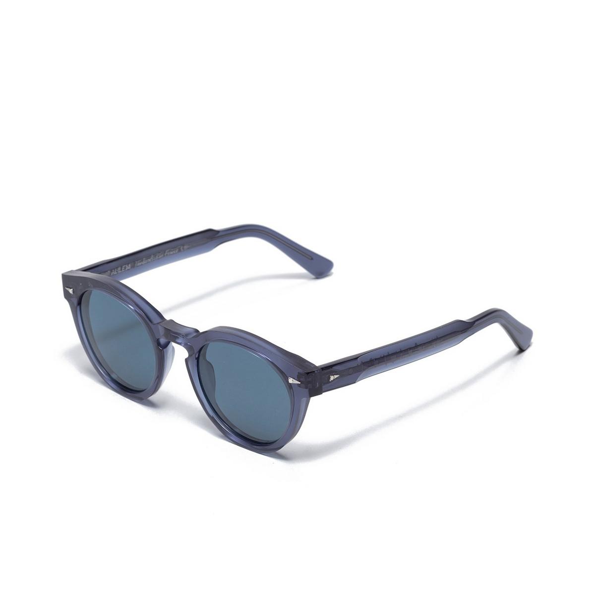 Ahlem® Round Sunglasses: Abbesses color Indigolight.