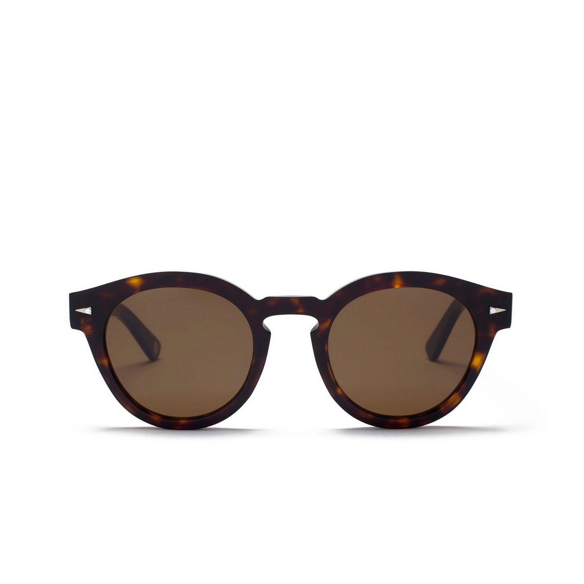 Ahlem® Round Sunglasses: Abbesses color Light Turtle.