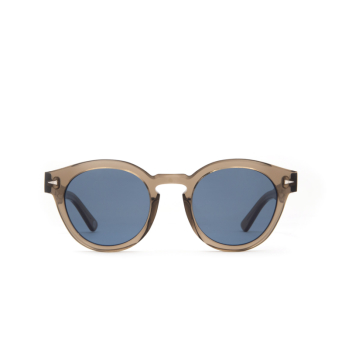 Ahlem® Round Sunglasses: Abbesses color Smoked Light.