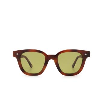 Ahlem® Square Sunglasses: Bonne Nouvelle color Brown Turtle.