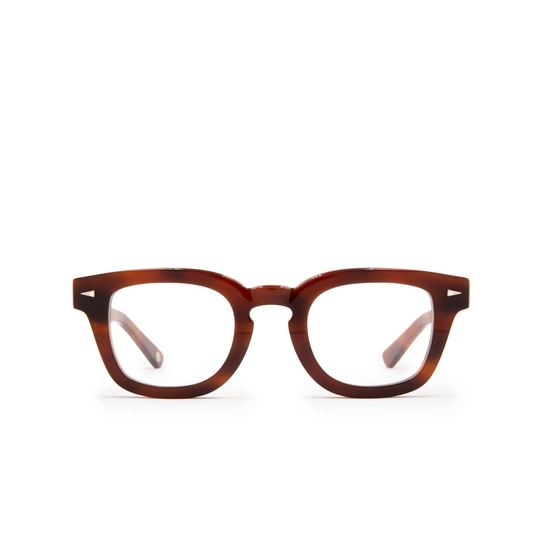 Ahlem® Square Eyeglasses: Champ De Mars Optic color Brown Turtle.