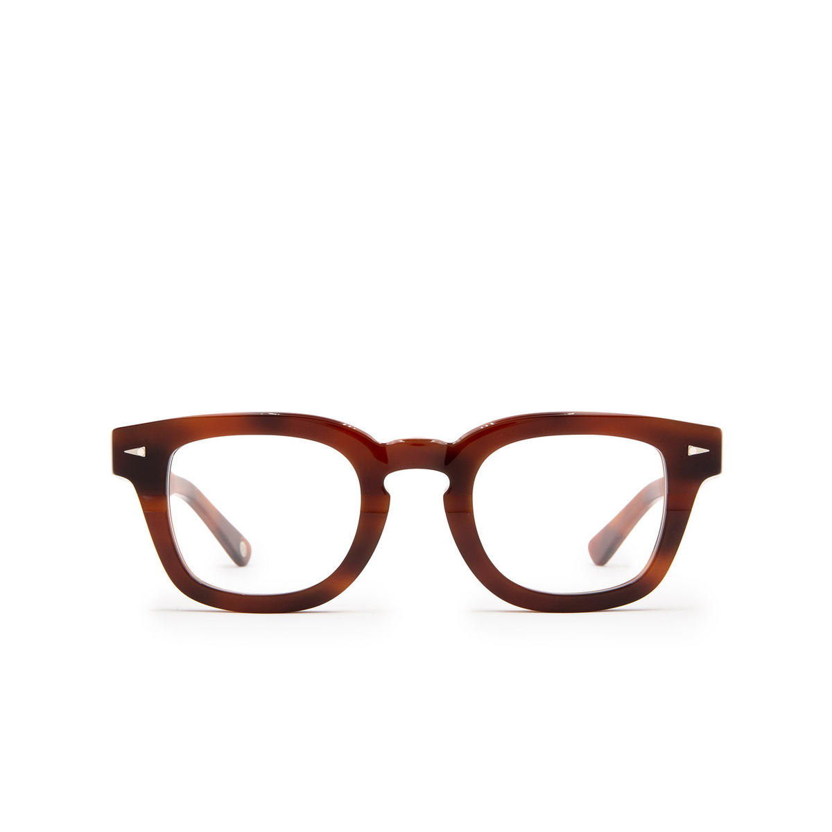 Ahlem® Square Eyeglasses: Champ De Mars Optic color Brown Turtle.