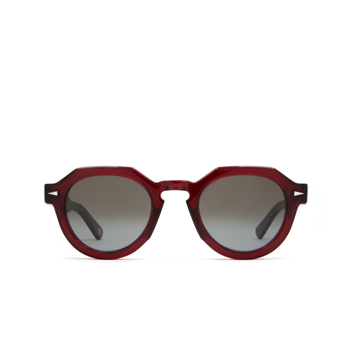 Ahlem® Irregular Sunglasses: Grenelle color Burgundy.