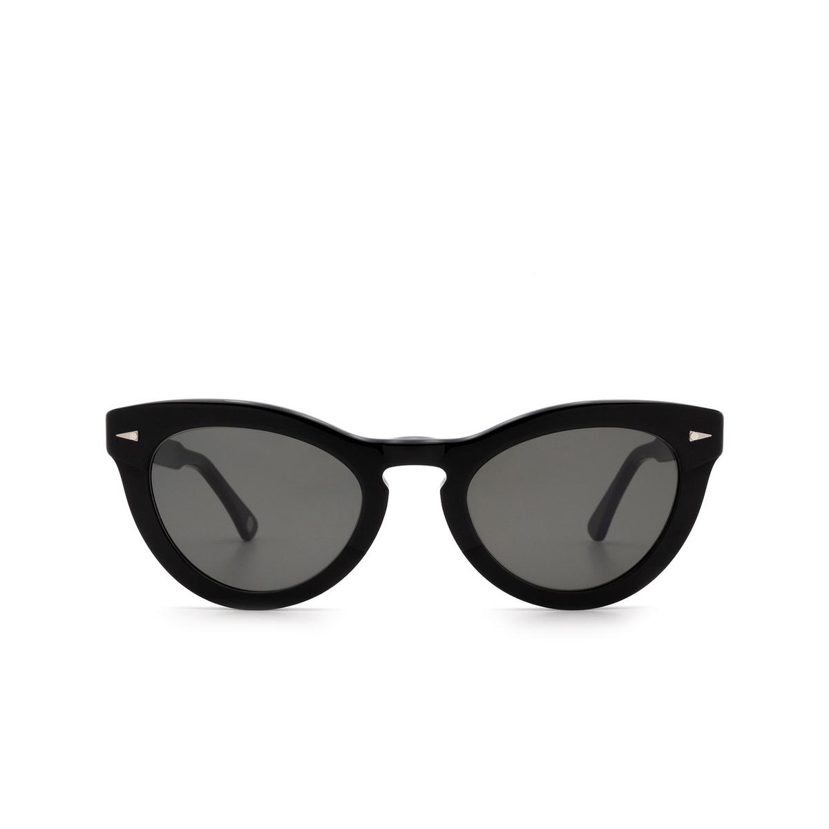 Ahlem® Cat-eye Sunglasses: Ile St Louis color Black.