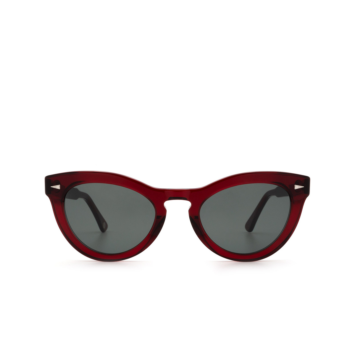 Ahlem® Cat-eye Sunglasses: Ile St Louis color Burgundy.