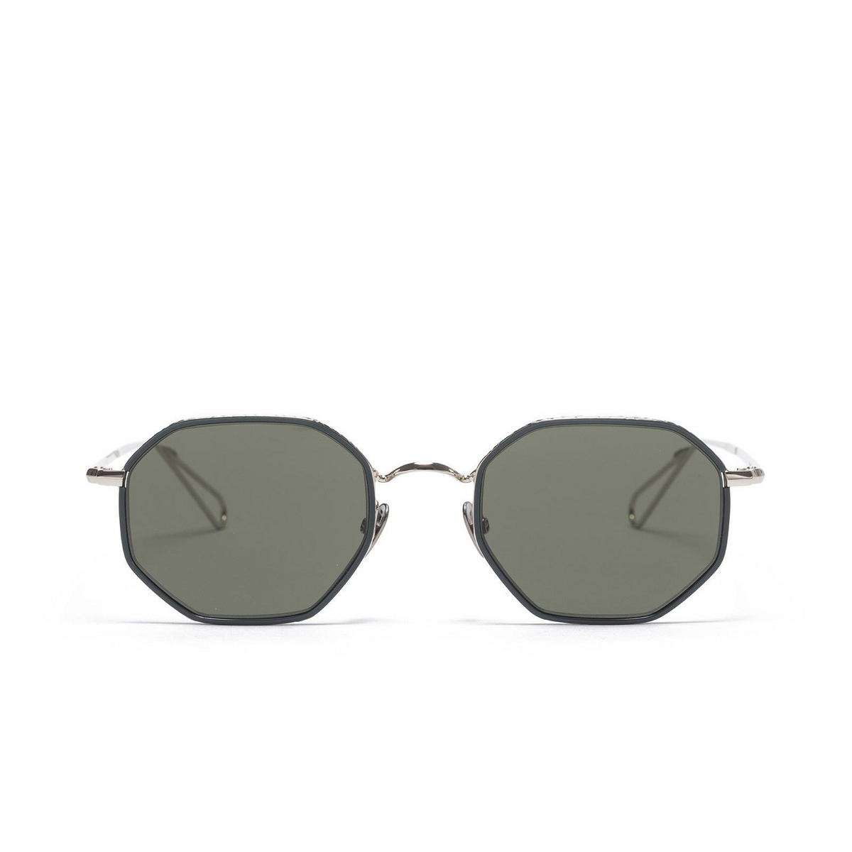 Ahlem® Irregular Sunglasses: Luxembourg color Grey Gold/ Green Windsor.