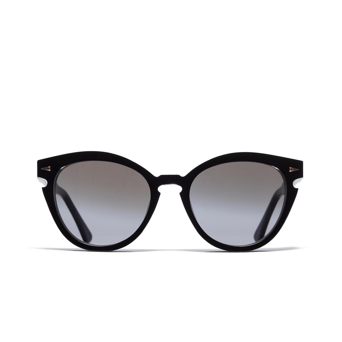 Ahlem® Cat-eye Sunglasses: Menilmontant color Black.