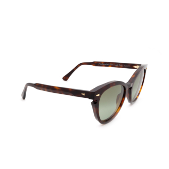 Ahlem® Cat-eye Sunglasses: Menilmontant color Light Turtle.