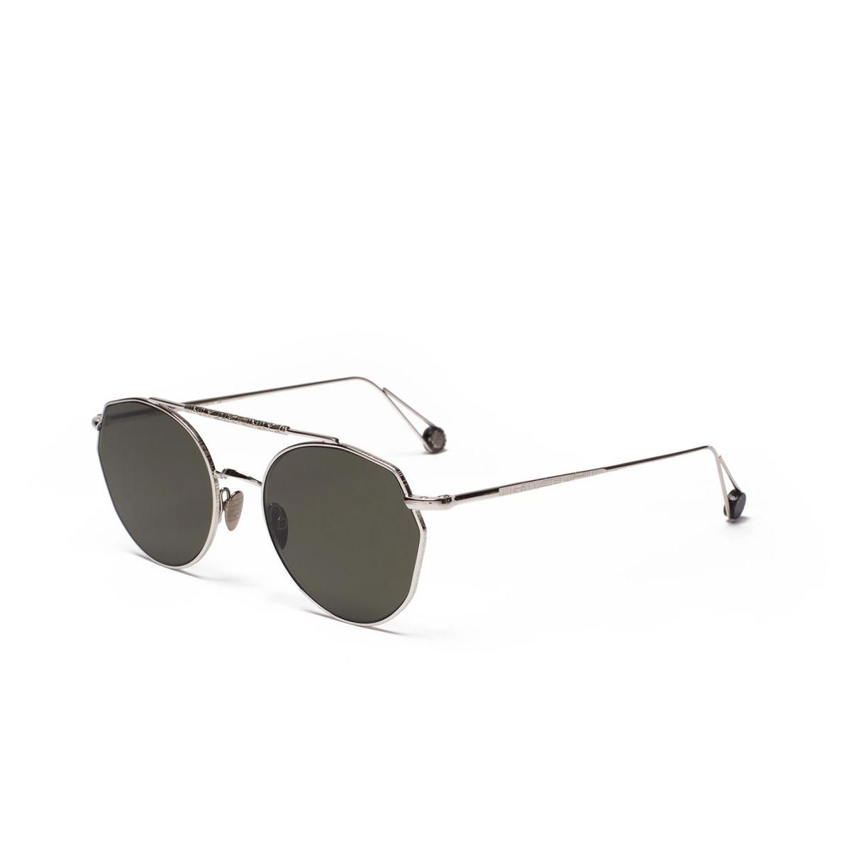 Ahlem® Irregular Sunglasses: Place Carree color White Gold.